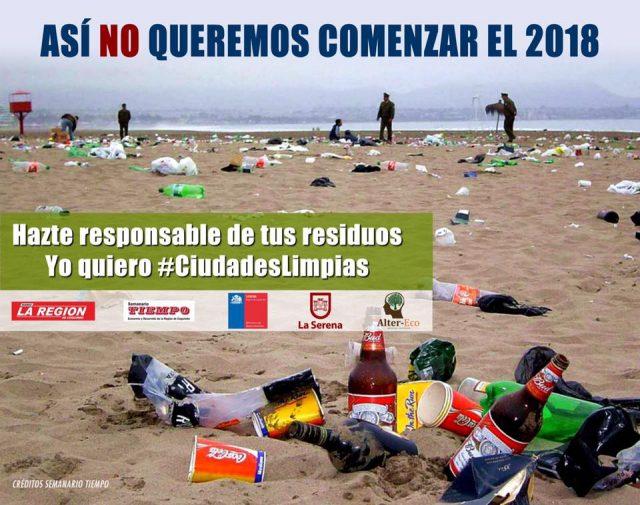 Llamamos a tener conciencia medioambiental en fiestas de fin de año sobre el manejo de residuos